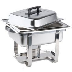 Choice 4 Qt. Economy Chafer Stainless Half Size Chafing Dish
