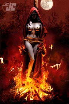 Lady Death Inferno by Jeff Chapman Jeff Chapman, Airbrush Art, Angels And Demons, Fantasy Illustration, Fantasy Girl, Horror Art, Manga, Comic Character, Lady