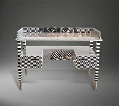 'Optique' Desk by Piero and Barnaba Fornasetti, 2009 | From a unique collection of antique and modern desks and writing tables at https://www.1stdibs.com/furniture/tables/desks-writing-tables/