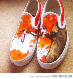 Calvin and Hobbes loafers