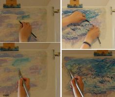 Fabric Painting Demo Using Inktense Pencils: Applying Inktense to Fabric