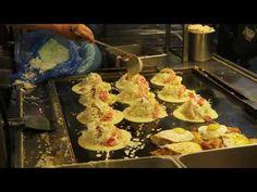Korea Street Food  - Okonomiyaki Myeong Dong Street Food