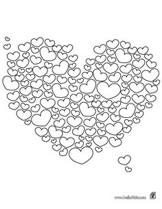Hearts to color online or print out and color on paper! Free printable! #ValentinesDay