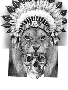 - You are in the right place about (notitle) Tattoo Design And Style Galleries On The Net – Are The - Mens Lion Tattoo, Cat Tattoo, Tattoo Drawings, Indian Girl Tattoos, Indian Skull Tattoos, Lion Tattoo Design, Tattoo Designs, Headdress Tattoo, Bruce Lee Martial Arts