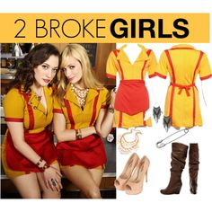 My new Halloween idea ... 2 Broke Girls! I'm definitely Caroline