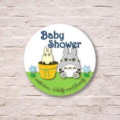 Totoro Gift Tag Stickers Baby Shower Party Favor by LavenderArte