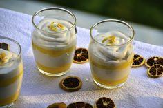 Parfait de limón con crema de coco saludable