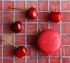 Macaron cerise, gingembre, anis