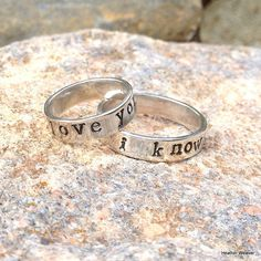 Matching Sterling Silver Star Wars Quote Rings  by GeekandGamer, $75.00  I used to say this all the time