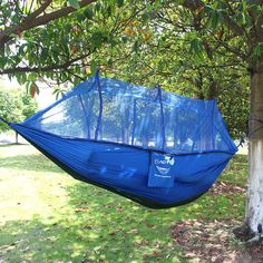 Efficient Single Double Hammock Adult Outdoor Backpacking Travel Survival Hunting Sleeping Bed Portable Hama Furniture