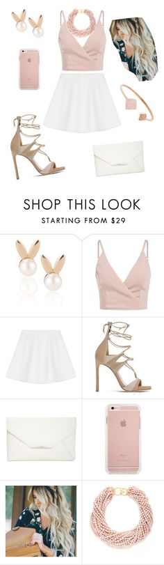 """""""Untitled #130"""" by catia-santos on Polyvore featuring Aamaya by priyanka, RED Valentino, Stuart Weitzman, Style & Co., Kenneth Jay Lane and Michael Kors"""