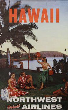 1960 Northwest Orient Airlines Hawaii