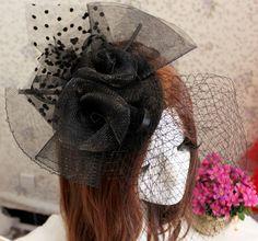 Negro Velo diadema pelo Fascinator Sombrerería Burlesque Veiling boda Sombrero Cóctel Sombrero Cabeza de flor nupcial / Tocados , B2328 en Sombreros de Novia de Moda y Complementos en AliExpress.com | Alibaba Group
