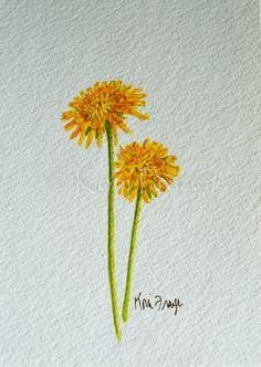 Dandelion watercolor painting / ten most interesting by KoniFrazer