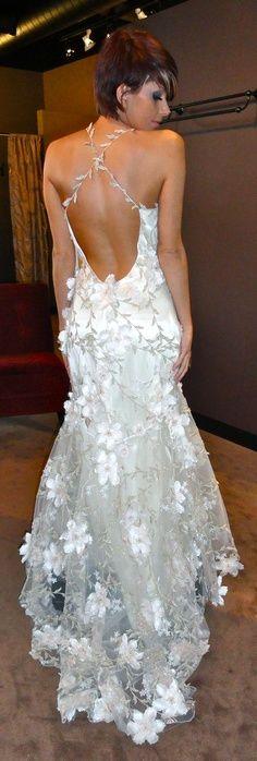 White dress low lack