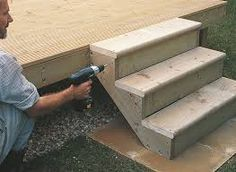 Image result for outdoor wooden stairs 3 steps