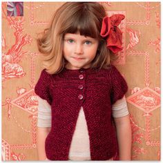 love knit vests with long sleeves layered beneath. #kids #Designer #fashion