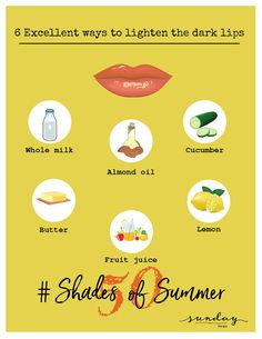 Do you know our lip skin is 5 times more sensitive than our facial skin? Lips do get tanned and damaged. Try these simple hacks to lighten your lip color. Do let us know your experience in the comments below. Follow our page for easy tips and tricks to stay beautiful and healthy. #DIY #skincaretips #Day5 #homeremedies #sundaythespa #50shadesofsummer #lightenyourdarklips #darklips #skincare #skincareessentials #almondoilbenefits
