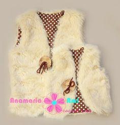 Vestuta Blanita bej cu buline maro by Anamaria Ami fur vest girl crem Boys And Girls Clothes, Tutu, Boy Or Girl, Fur Coat, Girl Outfits, Women's Fashion, Skirt, Floral, Dresses