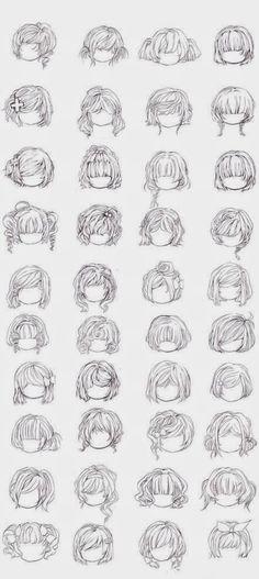 [Artes] 40 Estilos de Peinados Manga para Chicas.