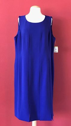 NWT KASPER Woman Galaxy Purple Sleeveless Shift Dress Size 18W PLUS Work Career #Kasper #Shift #WeartoWork