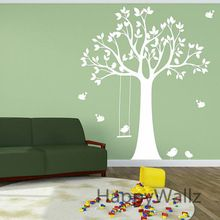 baby kinderkamer muursticker boom swing vogels boom muur stickers voor kinderen op de kamer behang kinderen diy boom muur decors hete verkoop t28(China (Mainland))