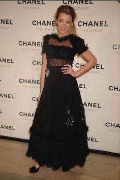 Blake Lively looks perfect in black Chanel dress. - #SocialblissStyle #BlakeLively #dress