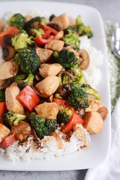 *Chicken and Veggie Stir Fry: easy, YUMMY stir-fry sauce. Will definitely be making again!!