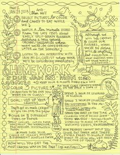 Join Cartoonist Lynda Barry for a University-Level Course on Doodling and Neuroscience Learning Spanish, Fun Learning, Ap Spanish, Lynda Barry, Art Handouts, The Desire Map, Art Classroom, Flipped Classroom, Classroom Design