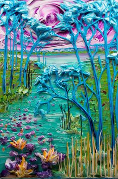 """The Beautiful Textured Art of """"Sculpting with Paint"""" - My Modern Metropolis  By Justin Gaffrey"""