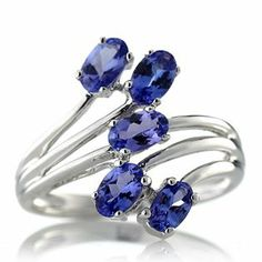 0.9ct Lavender Tanzanite Bypass Ring Sterling Silver