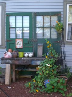 Photobucket-Potting Bench- rafor @Garden Web...