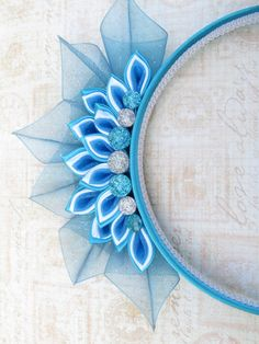 Ice Princess Tiara Kanzashi Headband by AngelPetals on Etsy