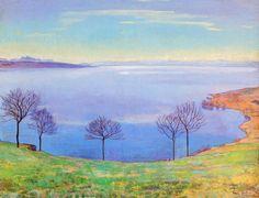 Le Lac Léman depuis Chexbres, 1898 de Ferdinand Hodler (1853-1918, Switzerland)