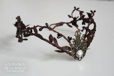 Wooland elf tiara  elven headpiece  fairy crown by Ayalga on Etsy