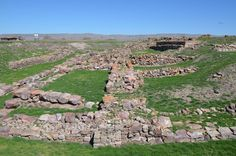 The ruins of Warsama's palace, King of Kanesh, one of the oldest examples of the Anatolian palaces, 1800-1750 BCE. Hittite