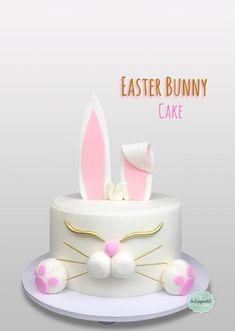 Torta Conejo - Rabbit Cake - bunny cake by Giovanna Carrillo Easter Bunny Cake, Easter Cupcakes, Fun Cupcakes, Easter Cookies, Cupcake Cakes, Pretty Cakes, Cute Cakes, Desserts Ostern, Rabbit Cake