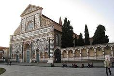 Santa Maria Novella / Architect: Leon Battista Alberti, begun 9th Century, front facade completed by Alberti in 1456 / Florence, Italy.