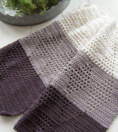 Halager: Flere små harlekin-håndklæder og link til de gamle.