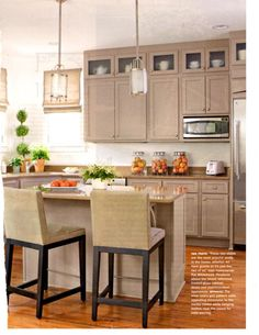 tan cabinets for kitchen