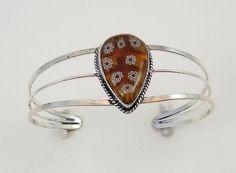 20 Gr.Stunning flower Qurts Handmade Open Cuff Bracelet  #Handmade #CuffBracelet
