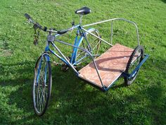 PLANS:Build your own BICYCLE SIDECAR for $5! ~ cargo bike ~ cart