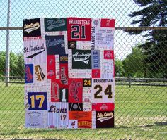Memory Blanket - T Shirt Memory Quilt  - Custom - Varied Shapes - Baseball Blanket - Graduation Gift - Fathers Day Gift