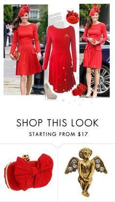 """""""duchess kate- in plaid and red"""" by janna-raub ❤ liked on Polyvore featuring CHI, Alexander McQueen and L.K.Bennett"""