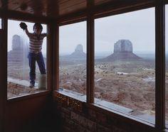 Navajo Window Washer, Monument Valley Tribal Park, Arizona 1983 by Skeet McAuley