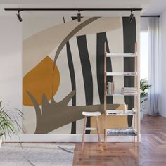 Abstract Wall Mural by thindesign Interior Design Living Room, Living Room Decor, Bedroom Decor, Wall Decor, Design Bedroom, Mural Art, Wall Murals, Wall Design, House Design