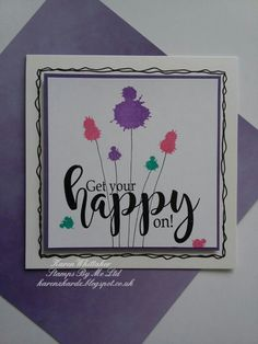 Get Your Happy On stamp by Stamps By Me  #stampsbyme #getyourhappyon #splats #distressoxides #funsentiments #stamping #stamps #cardmaking #cards #craft #creative #dtsample