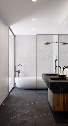 Architectural visualizations and video for Bom Sucesso development. Minimalist Bathroom Design, Bathroom Design Luxury, Bathroom Layout, Modern Bathroom Design, Small Bathroom, Modern Marble Bathroom, Modern Contemporary Bathrooms, Marble Bathrooms, Home Interior Design