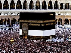 The Kaaba. Mecca, Saudi Arabia *Peace between millions of Muslims, Christians, Buddhists - we are being manipulated against one another slow wars by The United States of Israel *