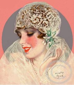 Art Deco bride by Henry Clive, 1928